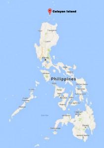 2016 08 03 Map showing Calayan Island
