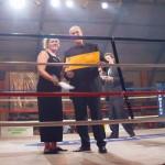 Sarah McLeods presents Martin Block with the Lufthansa price