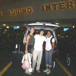 Nicole Adamson, Robin Helbig, and Cathy Freeman Bon Voyage!