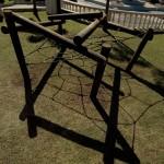 Spider web climbing frame